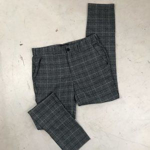PacSun Grey and Navy Plaid Trousers